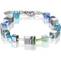 Coeur de Lion Geo Cube Blue & Green Bracelet | 4015/30-0705 - Fashion Gifts