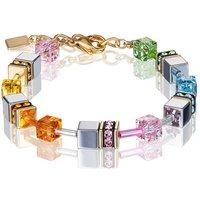 Coeur De Lion Geo Cube Muliticolour Pastel Bracelet | 4015/30-1522 - Fashion Gifts