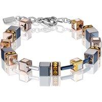 Coeur De Lion Geo Cube Rose Gold Bracelet | 4015/30-1822 - Fashion Gifts