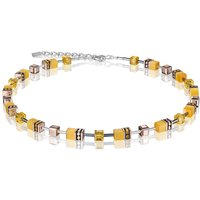 Coeur De Lion Geo Cube Yellow Necklace | 4016/10-0100 - Fashion Gifts
