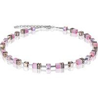 Coeur De Lion Geo Cube Light Rose Necklace | 4016/10-1920 - Fashion Gifts