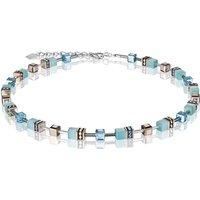 Coeur De Lion Geo Cube Aqua Necklace | 4016/10-2000 - Fashion Gifts