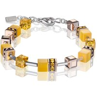 Coeur De Lion Geo Cube Yellow Bracelet, Rose Gold Plated - Fashion Gifts