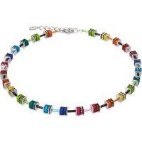 Coeur De Lion Geo Cube Small Crystal Multicoloured Necklace   4409/10-1500