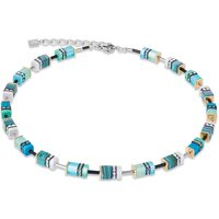 Coeur De Lion Geo Cube Turquoise & Green Necklace - Turquoise Gifts