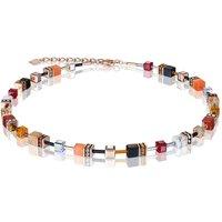 Coeur de Lion Geo Cube Red & Orange Necklace | 4905/10-0302 - Fashion Gifts