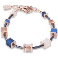 Coeur De Lion Geo Cube Blue & Beige Bracelet | 4945/30-0710 - Fashion Gifts