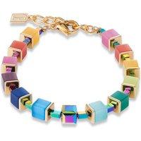 Coeur De Lion Geo Cube Muliticolour Rainbow Gold Bracelet | 4947/30-1535 - Fashion Gifts