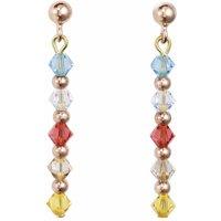 Coeur De Lion Multicolour Pastel Pierced Earrings   4948/21-1522