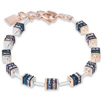 Coeur De Lion Geo Cube Blue & Rose Gold Plated Bracelet, Rose Gold Plated - Fashion Gifts