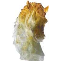 Daum Ambre Green Horse Head - Animals Gifts