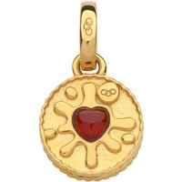 Links Of London British Tea Keepsakes Garnet Jammie Dodger Charm, 18kt Gold Vermeil