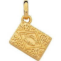 Links Of London British Tea Keepsakes Custard Cream Charm, 18kt Gold Vermiel