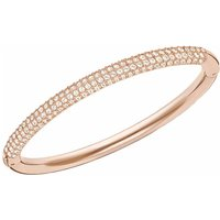 Swarovski Stone Mini Medium Bangle, White, Rose Gold Plated