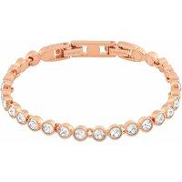 Swarovski Tennis Bracelet, White, Rose Gold Plated - Sport Gifts