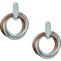 Links Of London Aurora Cluster Hoop Earrings, Sterling Silver & 18kt Rose Gold Vermeil