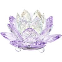 Swarovski Waterlily Violet Candleholder | 5066011 - Decorations Gifts