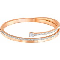 Swarovski Fresh Medium Bangle, White, Rose Gold Plated