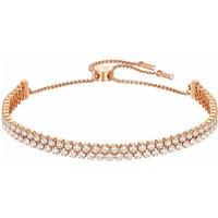 Swarovski Subtle Bracelet, White, Rose Gold Plated