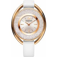 Swarovski Crystalline Oval Watch, White, Rose Gold Plated