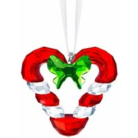 Swarovski Candy Cane Heart Ornament - Candy Gifts
