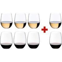 Riedel O Wine Tumbler Cabernet / Merlot and Viognier / Chardonnay Glasses (Set of 8)
