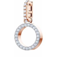 Swarovski Remix Collection O Charm, White, Rose Gold Plated