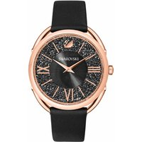 Swarovski Crystalline Glam Watch, Black, Rose Gold Plated - David Shuttle Gifts