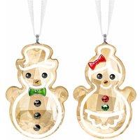 Swarovski Gingerbread Snowman Couple Ornament - Ornament Gifts