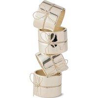 Vera Wang Love Knots Giftware Napkin Rings (Set of 4)   54735805750