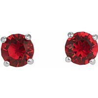 Swarovski Attract Stud Pierced Earrings, Red, Rhodium Plated - Red Gifts