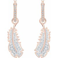 Swarovski Naughty Drop Earrings, White, Rose Gold Plated - Naughty Gifts