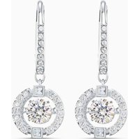 Swarovski Sparkling Dance Pierced Earrings, White, Rhodium Plated - Swarovski Gifts