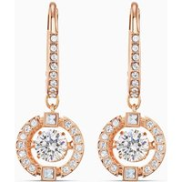 Swarovski Sparkling Dance Pierced Earrings, White, Rose Gold Plated - Swarovski Gifts