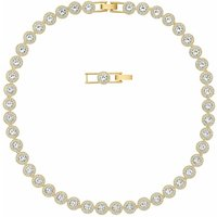 Swarovski Angelic All Around Necklace, White, Gold Plated - Necklace Gifts