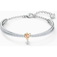 Swarovski Lifelong Heart Bangle, Mixed Metal Finish - Swarovski Gifts