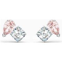 Swarovski Attract Soul Pierced Earrings, Pink, Rhodium Plated - Swarovski Gifts