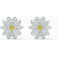 Swarovski Eternal Flower Stud Pierced Earrings, Yellow, Rhodium Plated - Swarovski Gifts