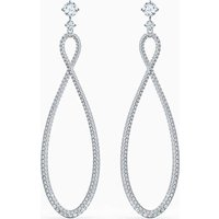Swarovski Infinity Hoop Pierced Earrings, White, Rhodium Plated - Swarovski Gifts