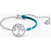 Swarovski Symbolic Tree of Life Bracelet, Blue, Rhodium Plated - Swarovski Gifts