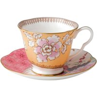 Wedgwood Butterfly Bloom Tea Cup & Saucer, Yellow - Butterfly Gifts