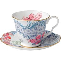 Wedgwood Butterfly Bloom Tea Cup & Saucer, Blue and Pink - Butterfly Gifts