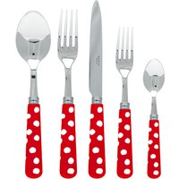 Sabre White Dots Red 5 Piece Cutlery Set - Cutlery Set Gifts