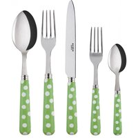 Sabre White Dots Garden Green 5 Piece Cutlery Set - Cutlery Set Gifts