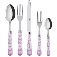 Sabre Hawaiian Flowers Pink 5 Piece Cutlery Set - Cutlery Set Gifts