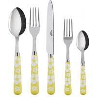 Sabre Hawaiian Flowers Yellow 5 Piece Cutlery Set - Cutlery Set Gifts