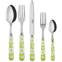 Sabre Hawaiian Flowers Spring Green 5 Piece Cutlery Set - Cutlery Set Gifts