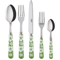 Sabre Hawaiian Flowers Garden Green 5 Piece Cutlery Set - Hawaiian Gifts