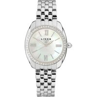 Links Of London Bloomsbury Womens Stainless Steel & Crystal Bracelet Watch | 6010.1307