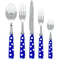Sabre White Dots Lapis Blue 5 Piece Cutlery Set - Cutlery Set Gifts